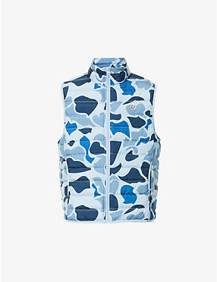 BILLIONAIRE BOYS CLUB: Camo-print shell-down gilet