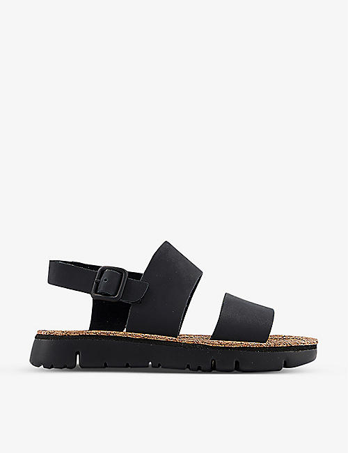 CAMPER: Oruga double-strap leather sandals