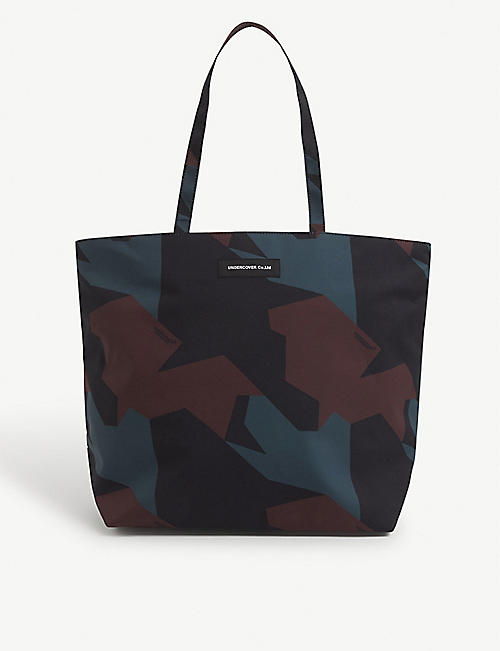 UNDERCOVER: Abstract-print woven tote bag