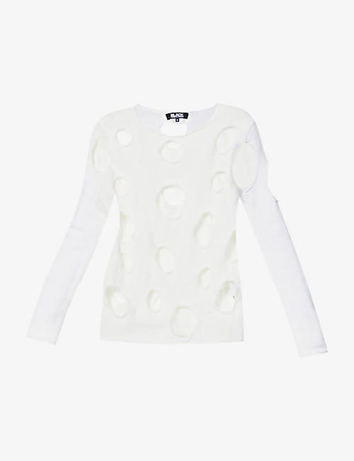 BLACK COMME DES GARCON: Cut-out woven jumper