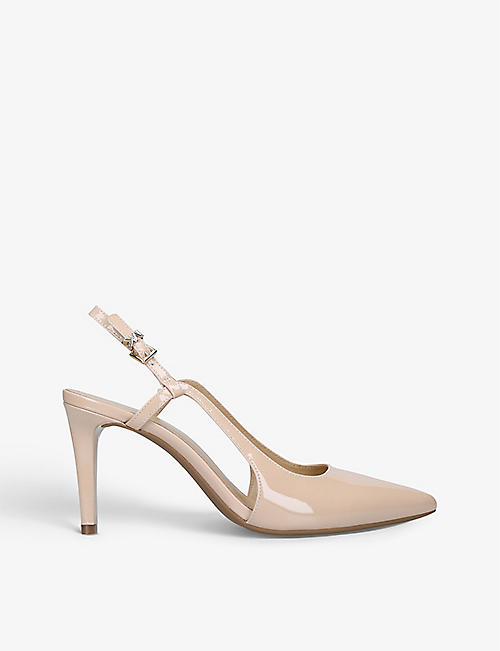 MICHAEL MICHAEL KORS: Vanessa pointed-toe leather slingback courts