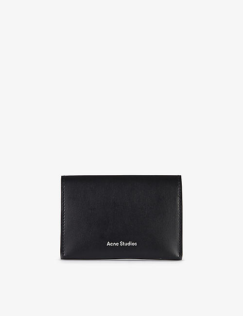 ACNE STUDIOS: Logo-print leather cardholder