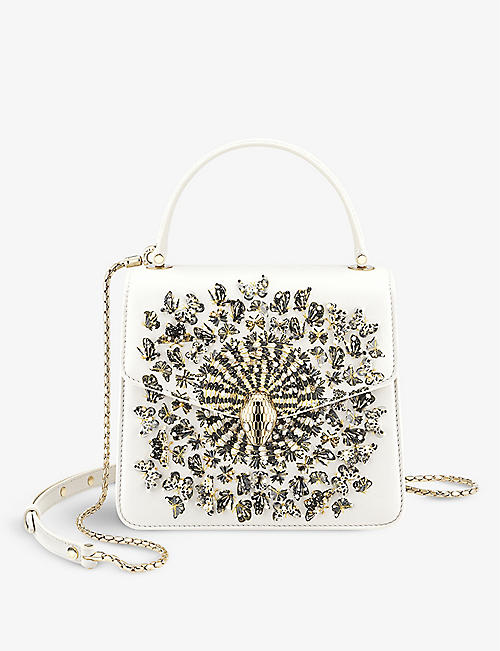 BVLGARI: Bvlgari x Mary Katrantzou bejewelled leather top-handle bag