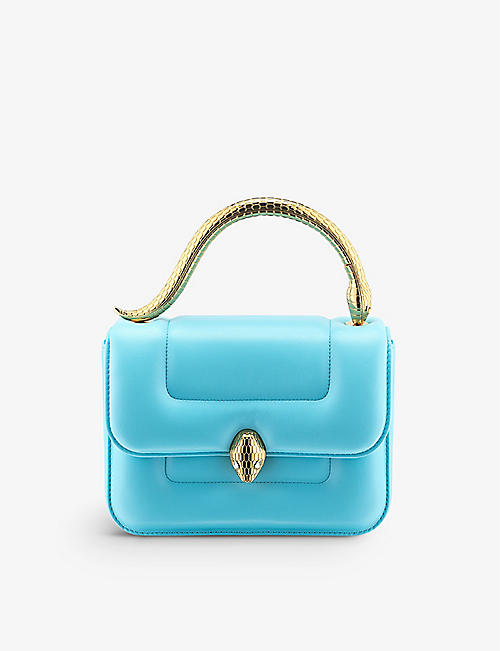 BVLGARI: Bvlgari x Mary Katrantzou leather top-handle bag