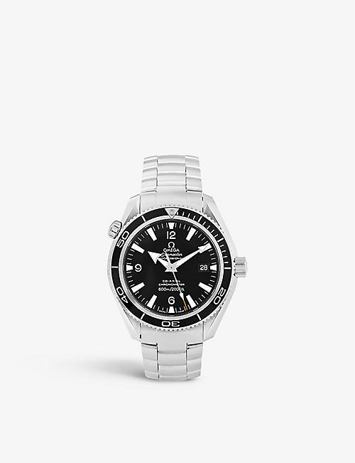BUCHERER CERTIFIED PRE OWNED: Pre-loved Omega 2209.50.00 Seamaster Planet Ocean stainless-steel automatic watch