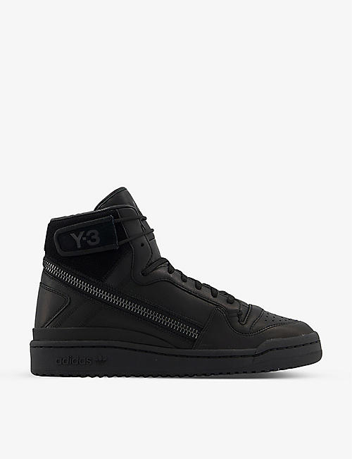 ADIDAS Y3: Y-3 Forum Hi OG leather high-top trainers