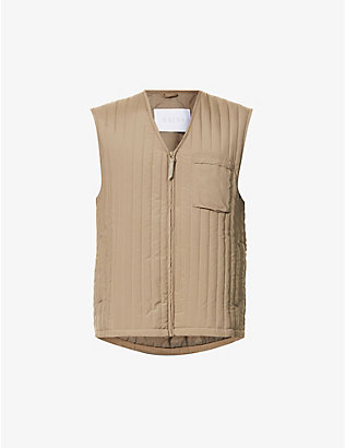 RAINS: Zip-up shell liner gilet
