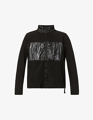 RAINS: High-neck fleece jacket