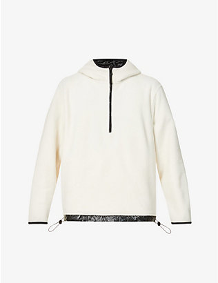 RAINS: High-neck half-zip fleece hoody