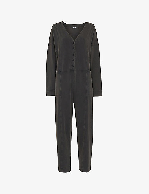 WHISTLES: India long-sleeved stretch-cotton jumpsuit