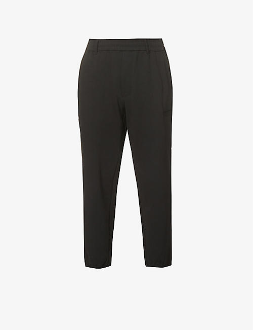 ARMANI: Tapered relaxed-fit cotton-blend jogging bottoms