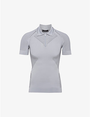 PRADA LINEA ROSSA: Zipped recycled polyester-blend polo shirt