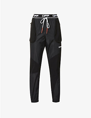 OFF-WHITE C/O VIRGIL ABLOH: Tech branded-waistband stretch-shell jogging bottoms