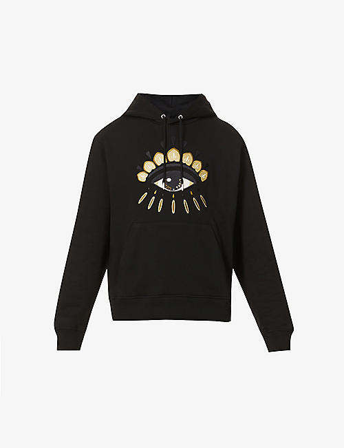 KENZO: Evil Eye graphic-print cotton-jersey hoody