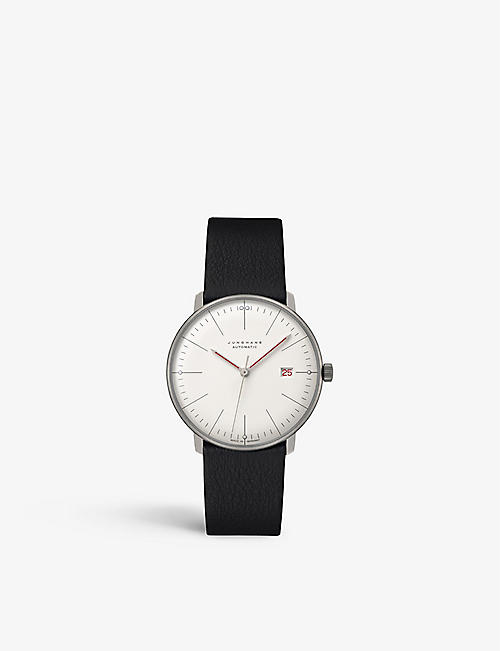 JUNGHANS:027/4009.02 Max Bill Bauhaus Edition 不锈钢皮革自动腕表