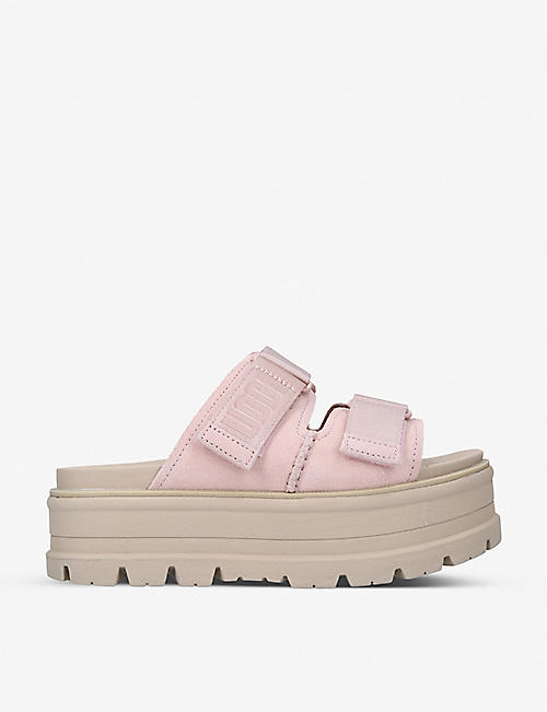 UGG: Clem platform leather and textile sandals