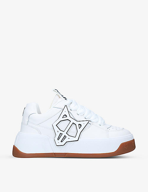 NAKED WOLFE: Kosa colour-blocked leather low-top trainers