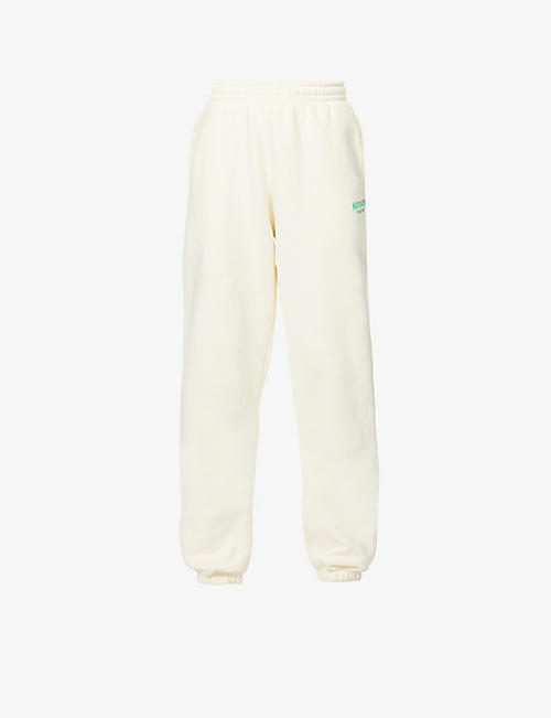 ROTATE SUNDAY: Mimi mid-rise organic-cotton jogging bottoms