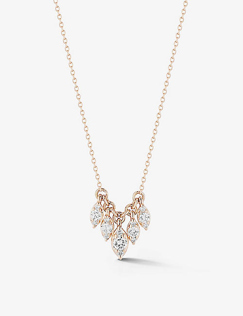 THE ALKEMISTRY: Dana Rebecca Sophia Ryan 14ct rose-gold and 0.20ct white diamond necklace