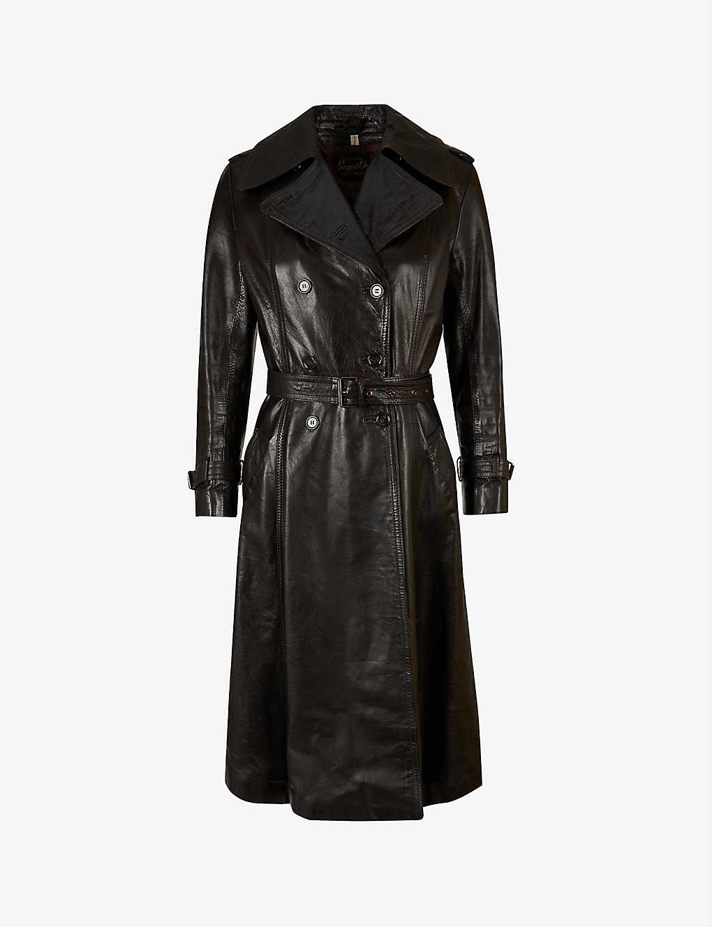 Pre-loved Beged Or 1970s leather coat