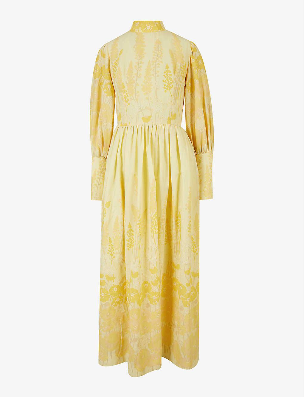 Pre-loved floral-print crepe maxi dress