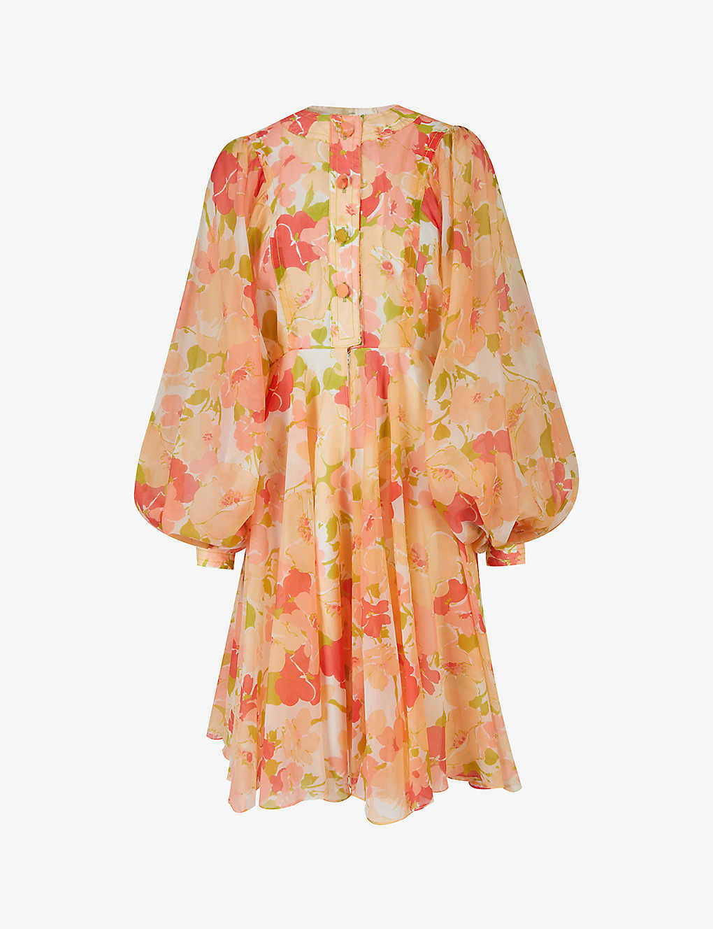 Pre-loved Jean Varon 1970s floral-print crepe midi dress
