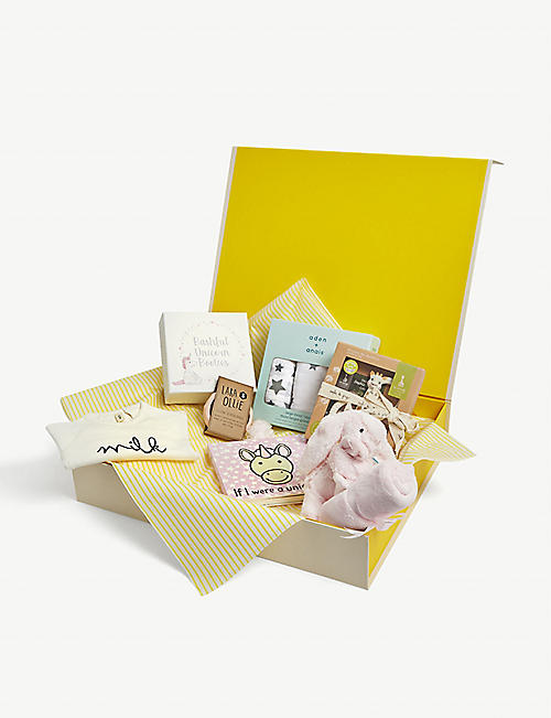 SELFRIDGES: Pink hamper baby gift set