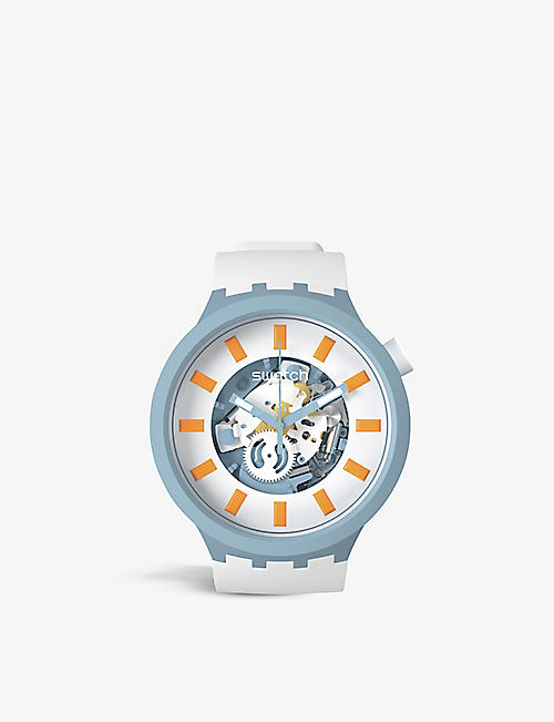 SWATCH: SB03N101 Blite bioceramic and plastic quartz watch