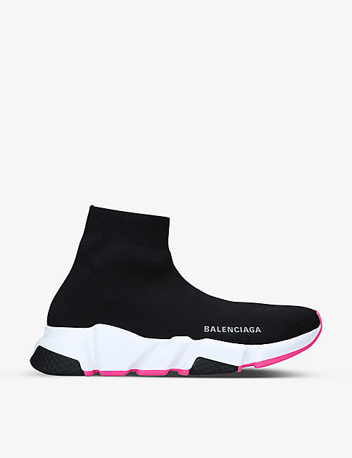 BALENCIAGA: Women's Speed stretch-knit mid-top trainers