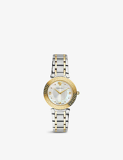 VERSACE: V16060017 Daphnis 18ct rose gold-plated stainless-steel quartz watch