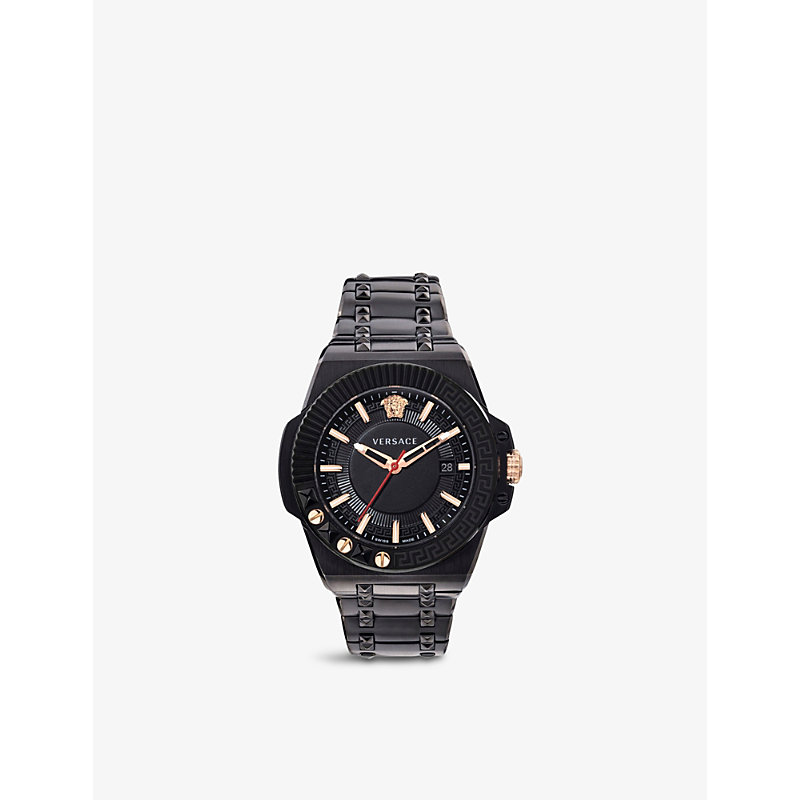 VERSACE VEDY00719 CHAIN REACTION STAINLESS-STEEL AND PVD QUARTZ WATCH
