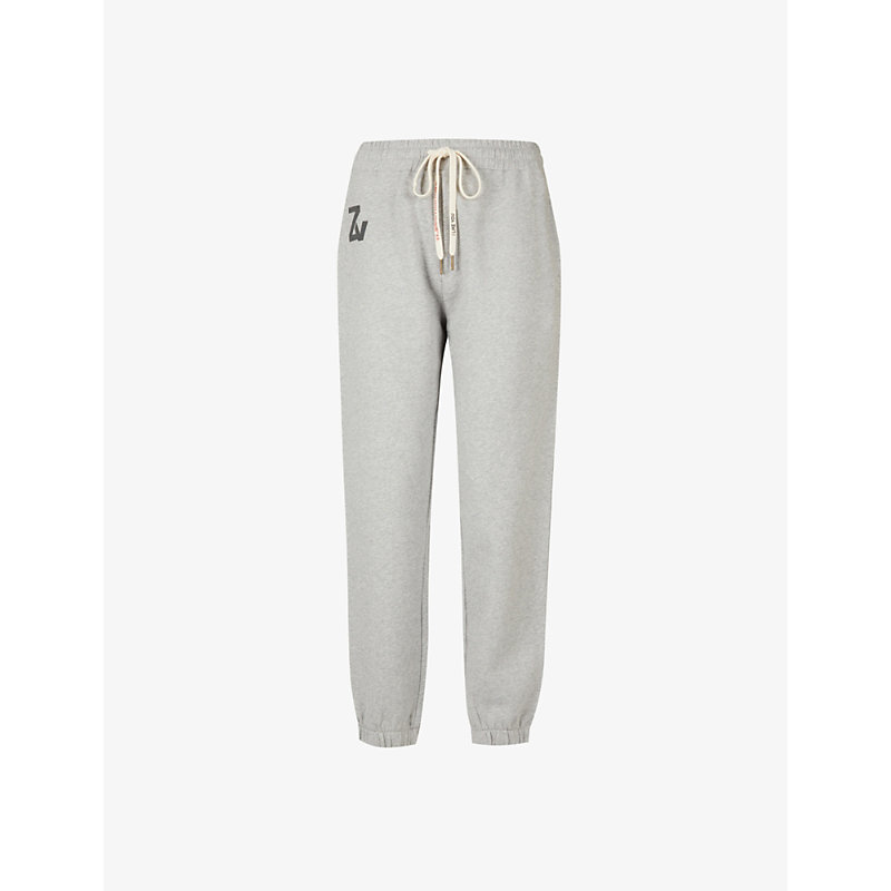 Zadig & Voltaire Womens Gris Chine Steevy Cotton-jersey Jogging Bottoms Xs In Grey