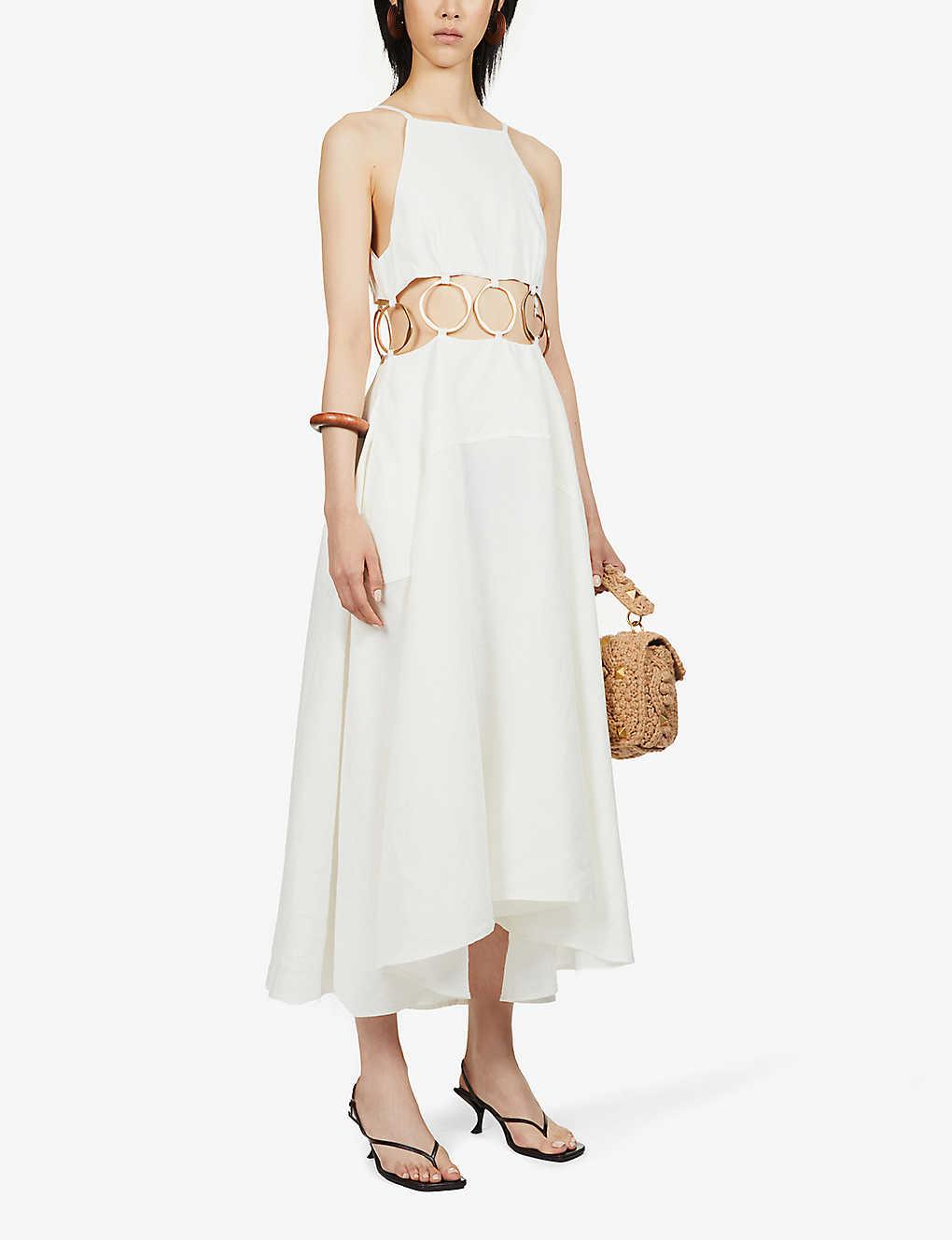 Rory cut-out linen maxi dress