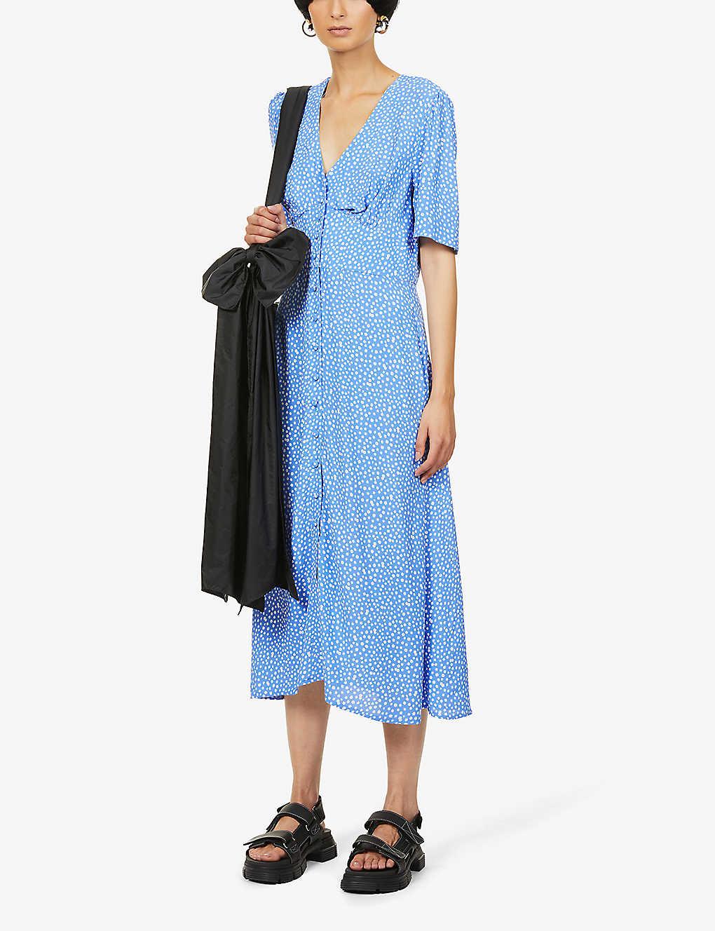 NOBODY'S CHILD Alexa floral-print woven midi dress