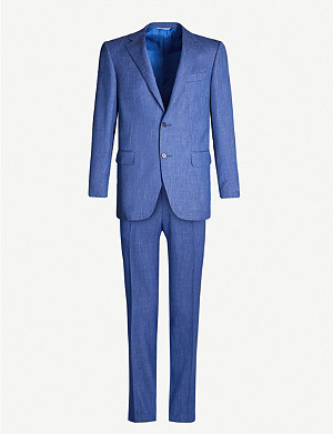 CANALI Textured tailored-fit suit