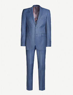 TED BAKER Sharkskin modern-fit suit